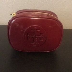 Patent leather cosmetic bag